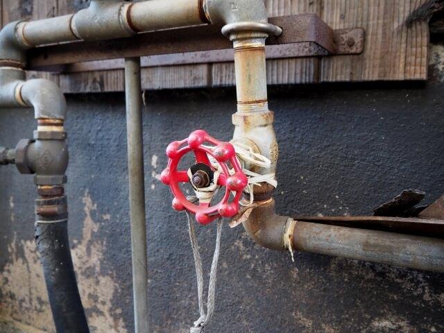 水道管のバルブ